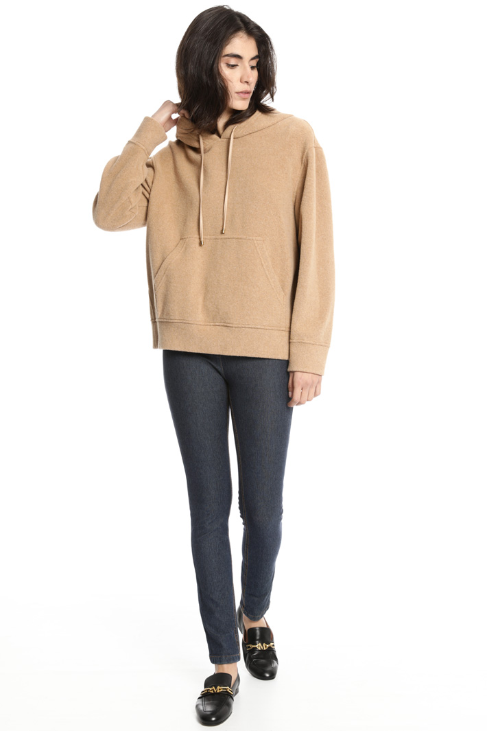 Cotton and camel sweatshirt Intrend