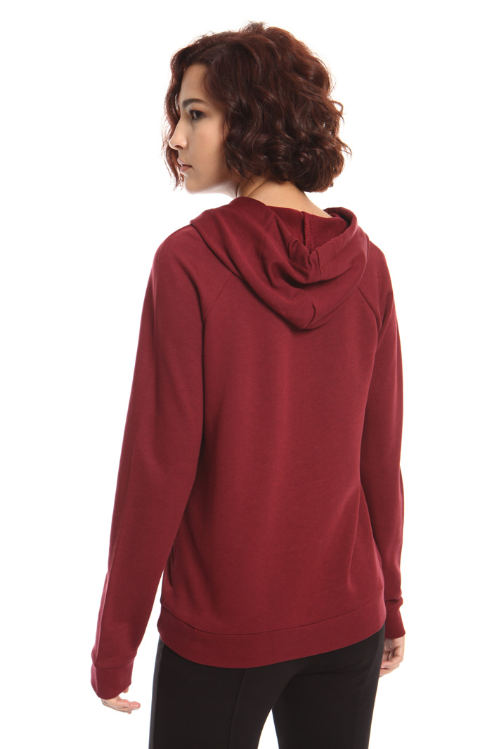 Jersey and satin sweatshirt Intrend