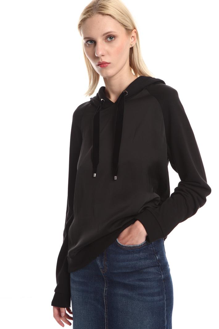 Jersey and satin sweatshirt Intrend