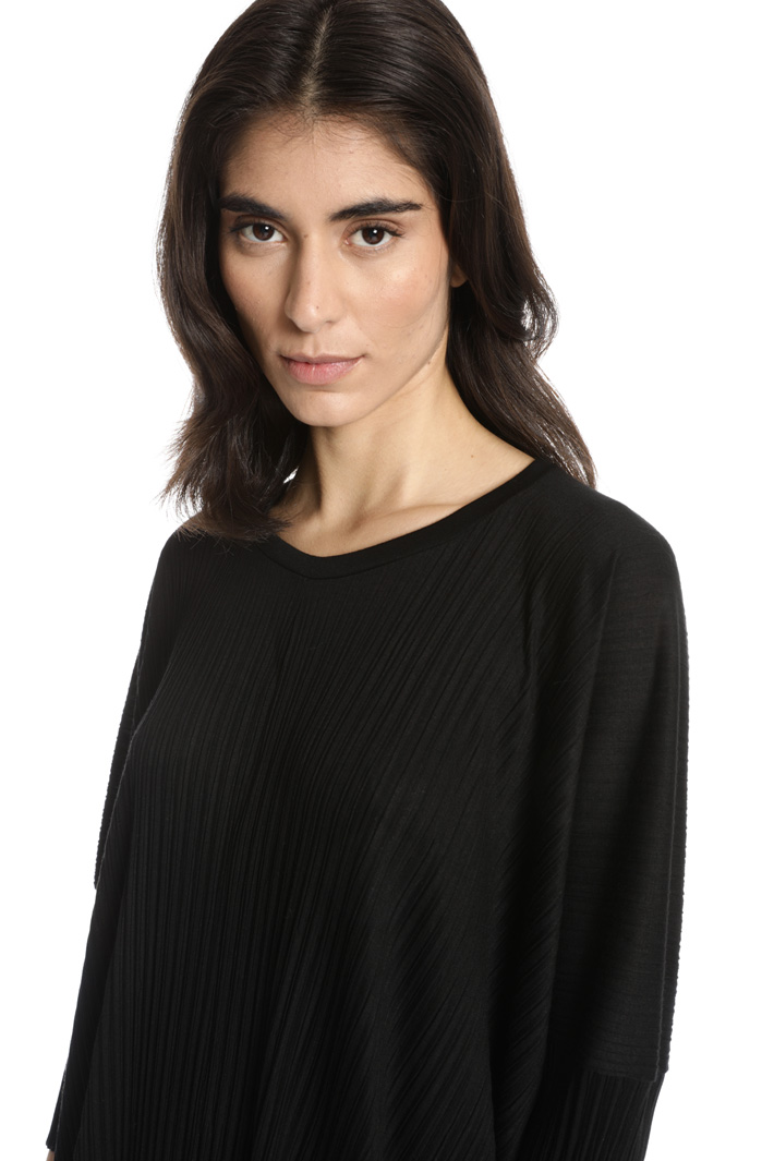 Pleated viscose T-shirt Intrend