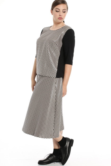 Jersey and jacquard T-shirt Intrend
