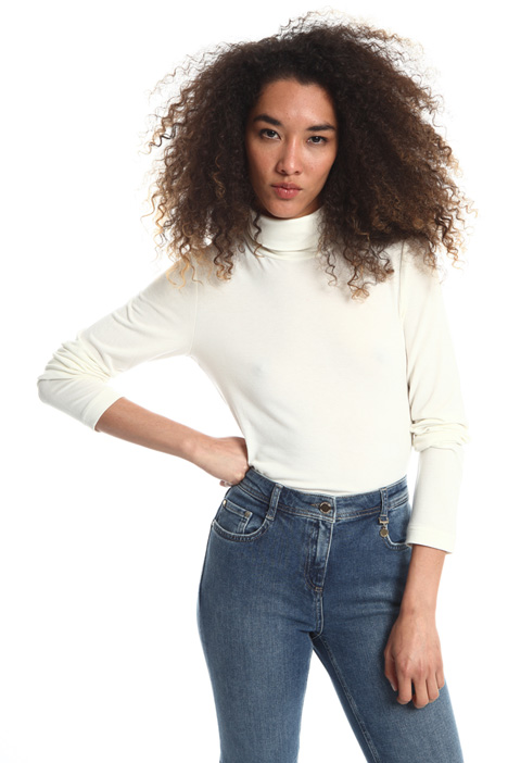 Viscose turtleneck top Intrend