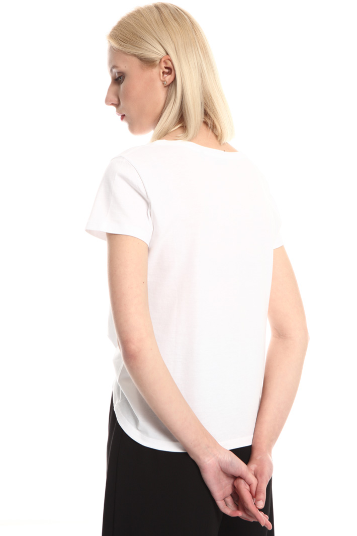 Printed embroidered T-shirt Intrend