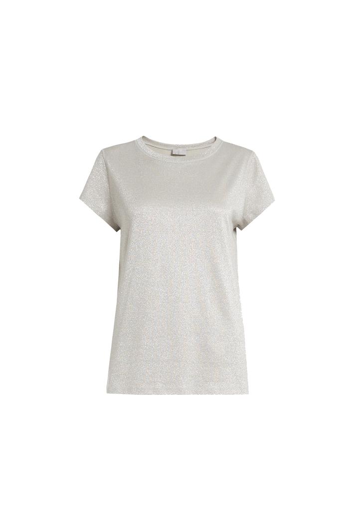 Lurex effect jersey T-shirt Intrend