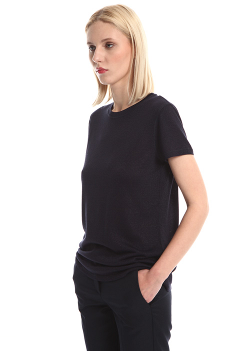 Lurex effect jersey T-shirt Intrend