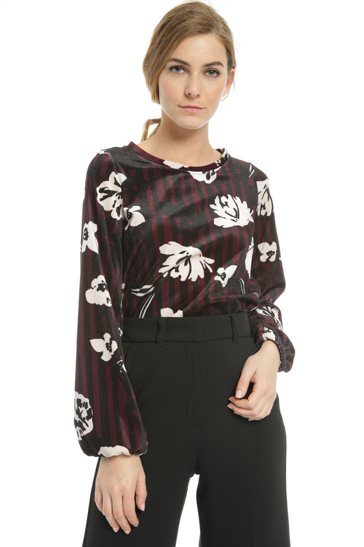 Chenille-effect sweater Intrend