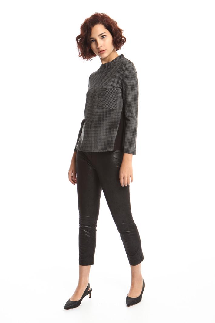 Milano stitch jersey blouse Intrend