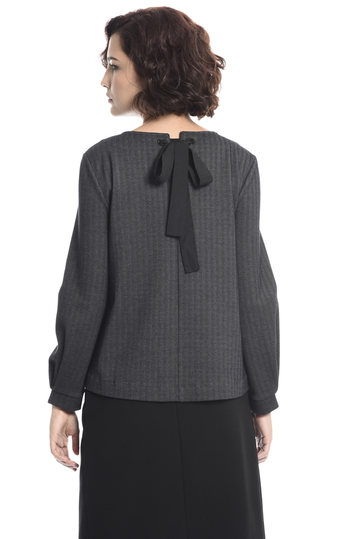 Jacquard jersey blouse Intrend