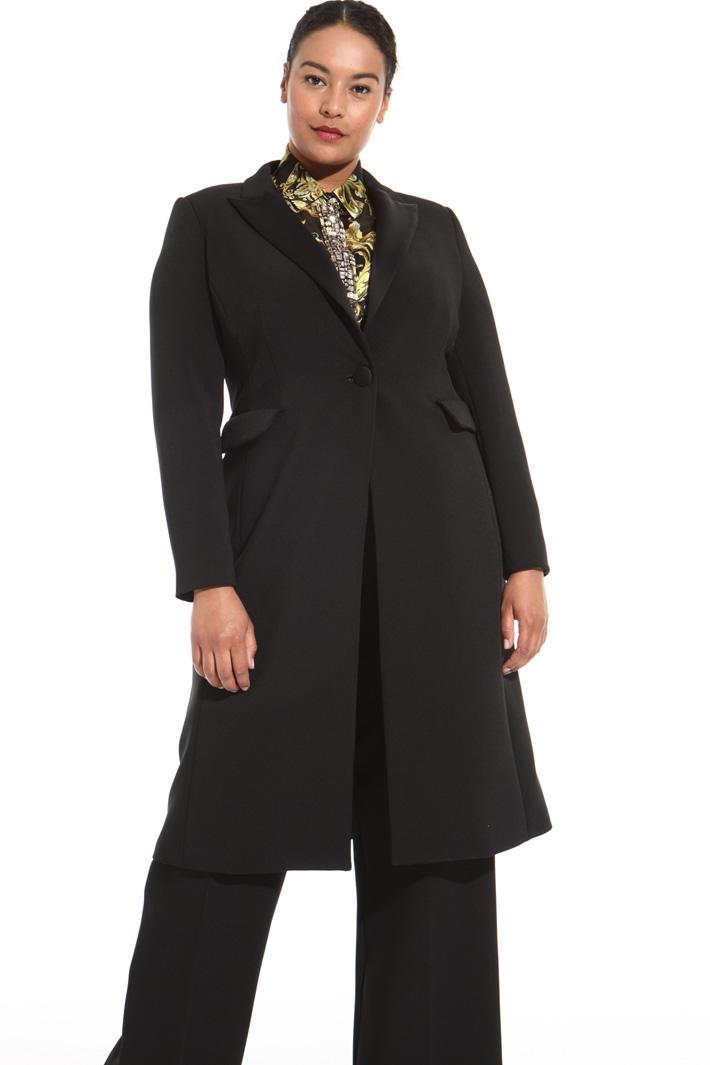 Crepe fabric coat Intrend