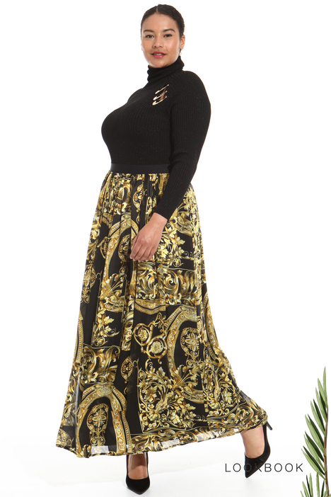Printed silk skirt Intrend