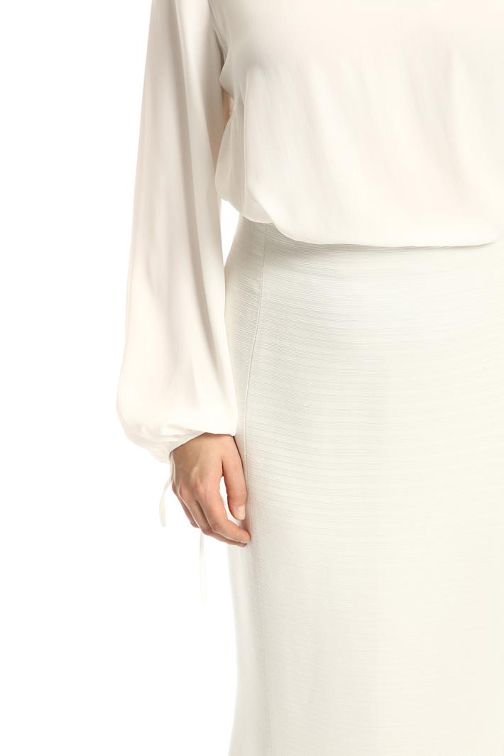Textured lurex skirt Intrend