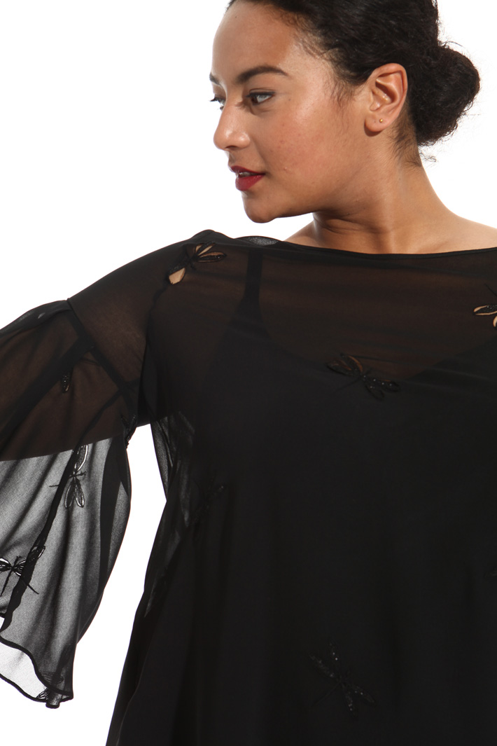 Embroidered georgette tunic Intrend