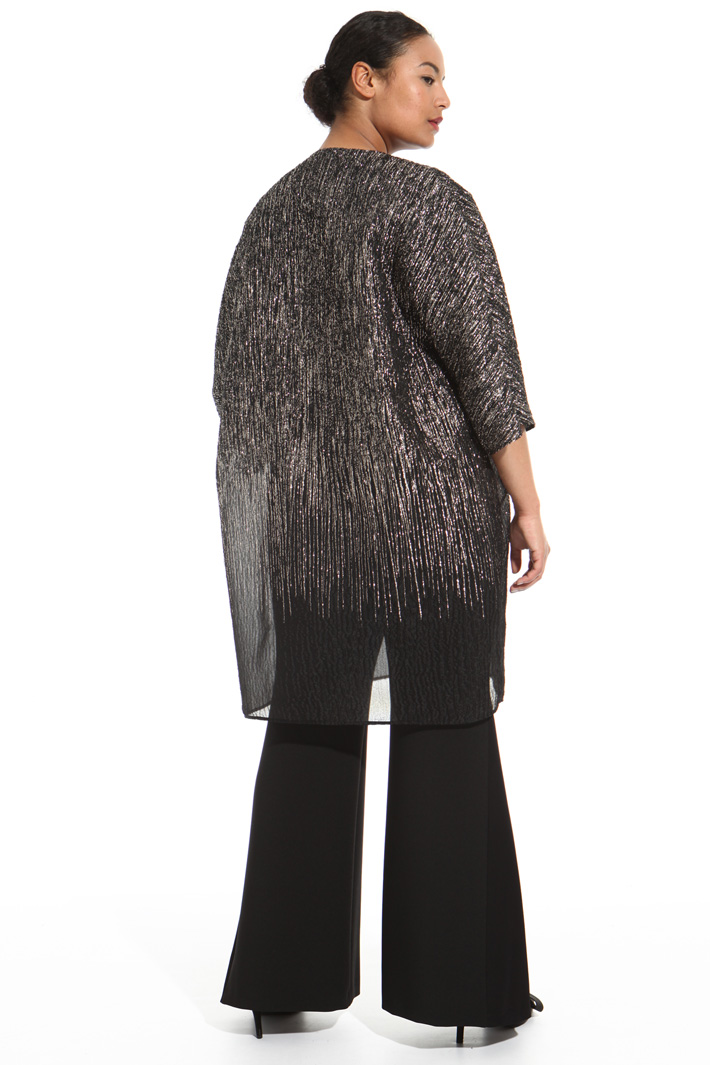 Silk and lurex duster coat Intrend