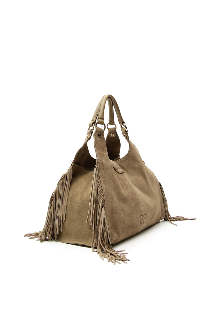 Suede bag with fringes Intrend
