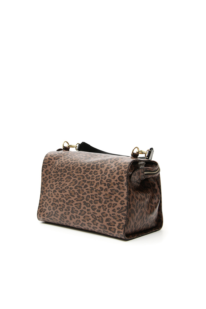 Printed leather Boston bag Intrend