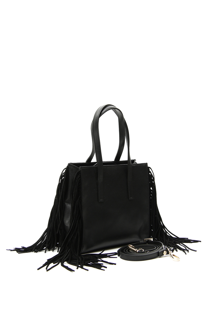 Smooth leather shopping bag Intrend