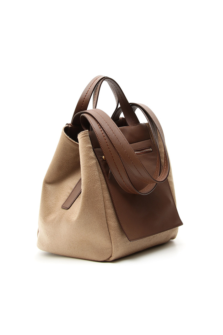 Nappa leather and cashmere bag Intrend
