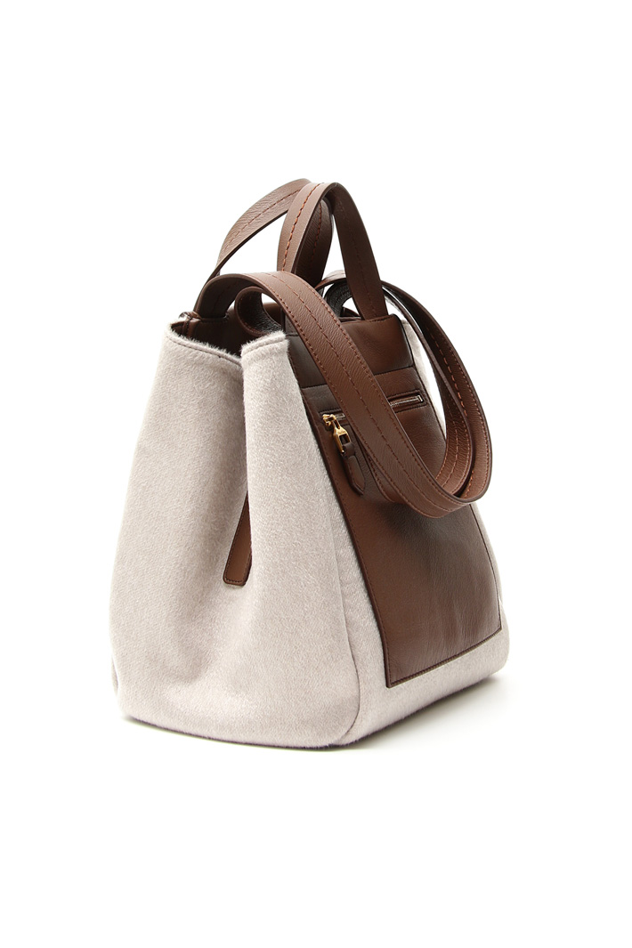 Nappa and cashmere bag Intrend