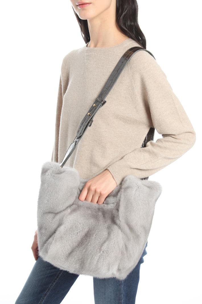 Shopper in pelliccia di visone Intrend