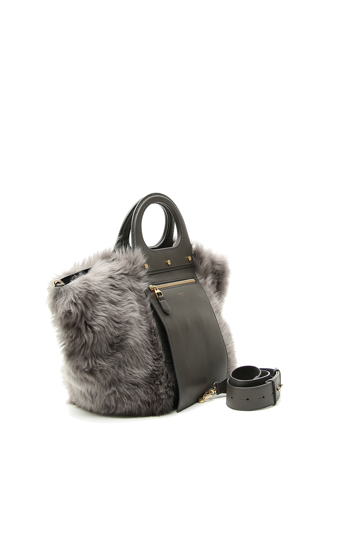 Fur shopper bag Intrend