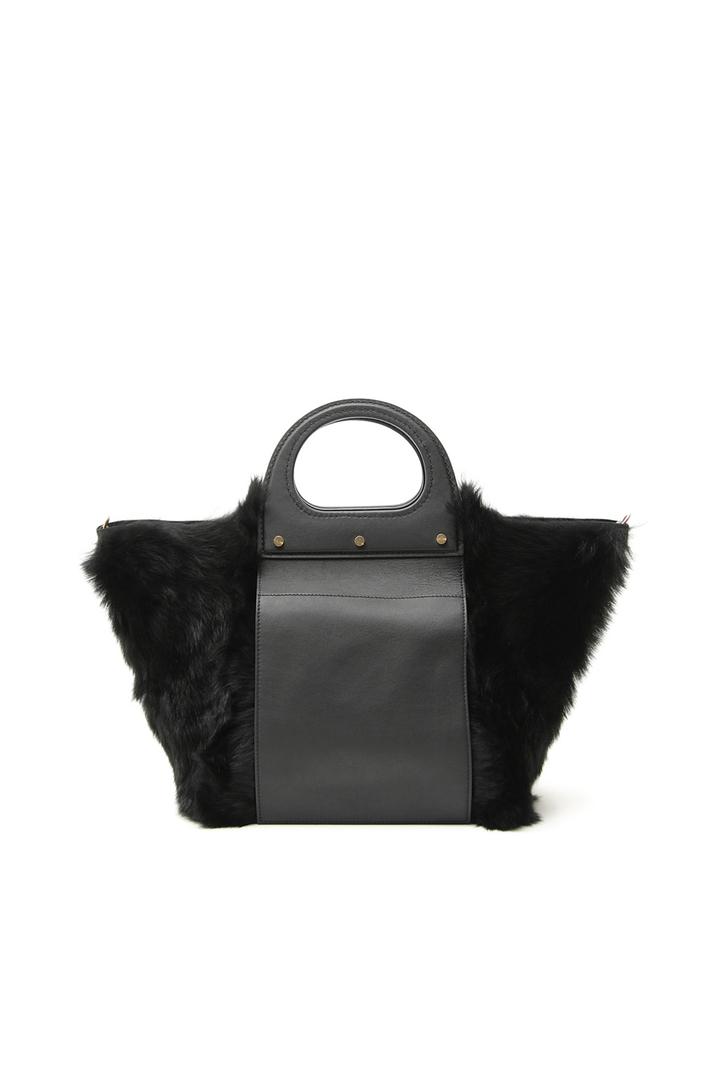 Fur shopper bag Intrend