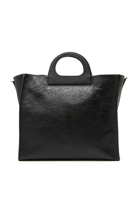 Large leather shopping bag Intrend