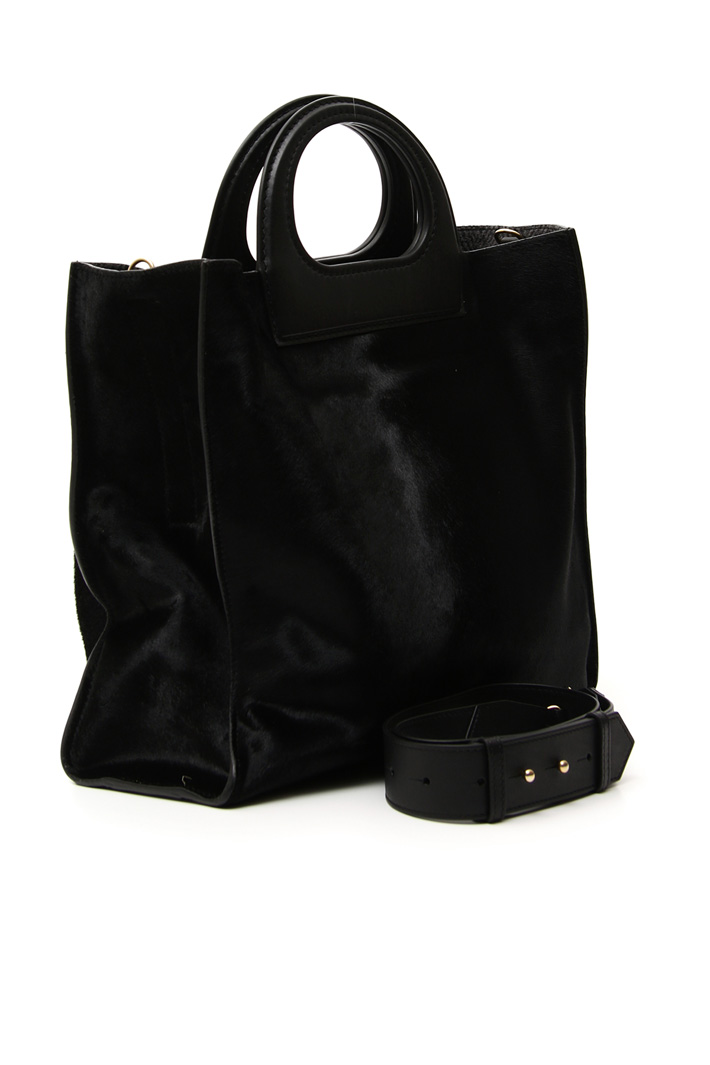 Leather and calf hair bag Intrend