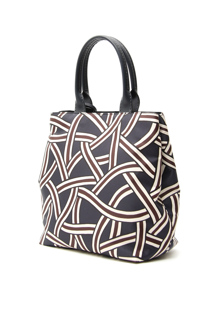 Printed fabric shopping bag Intrend