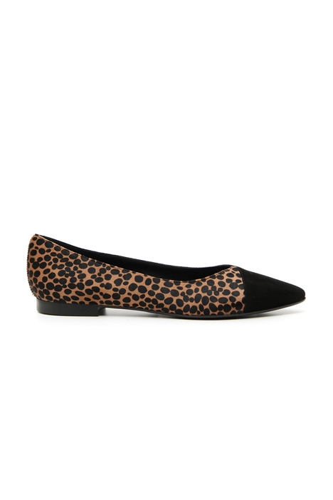 Pointed calf-hair ballerinas Intrend