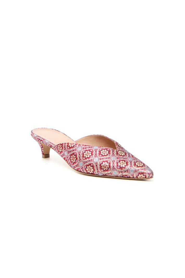Lurex jacquard sabot shoes Intrend
