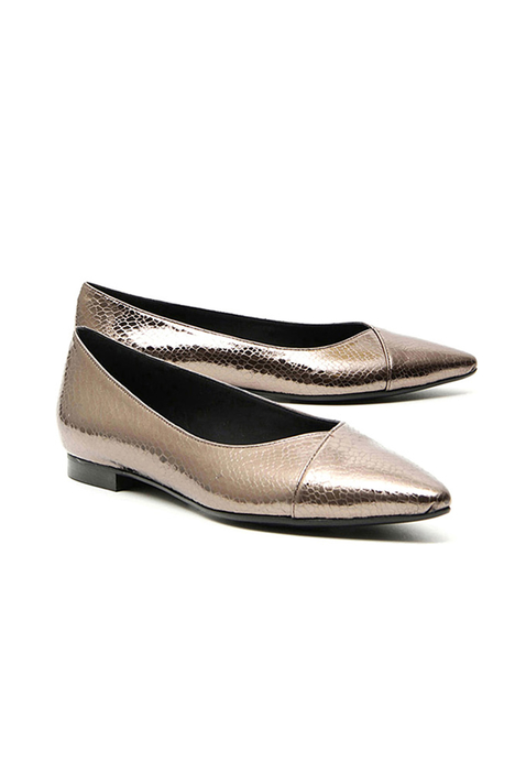 Crocodile print ballerinas Intrend