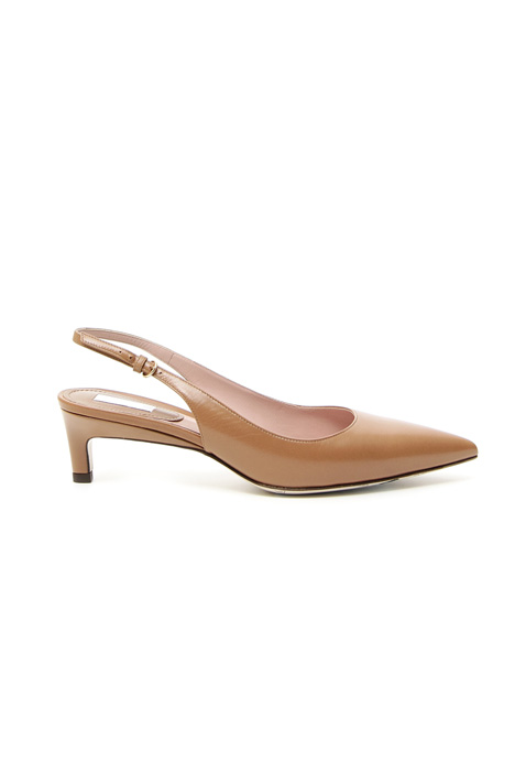 Goatskin slingback shoes Intrend