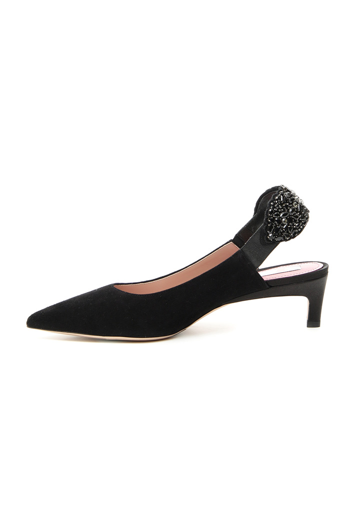 Suede slingback shoes Intrend