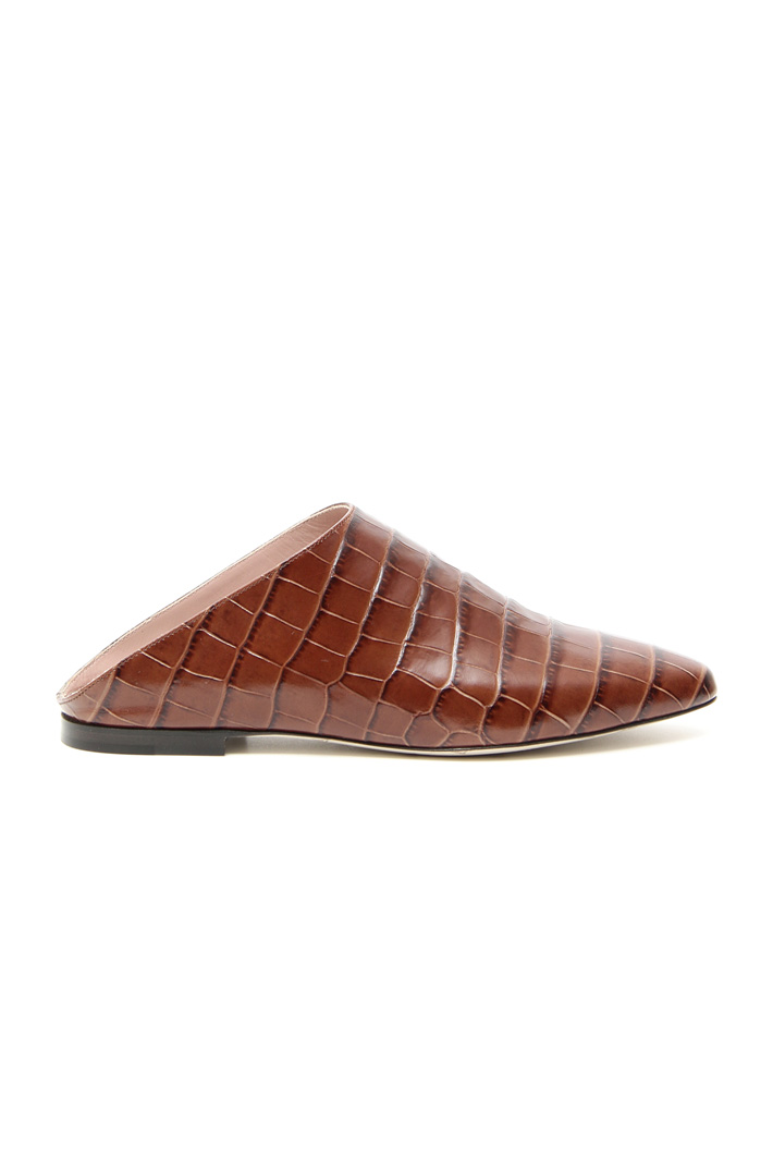Leather sabot shoes Intrend