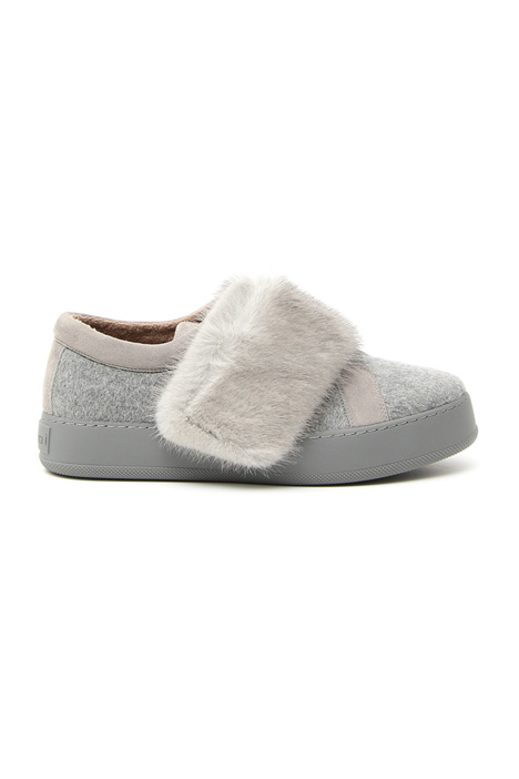 Sneakers in cashmere e visone Intrend