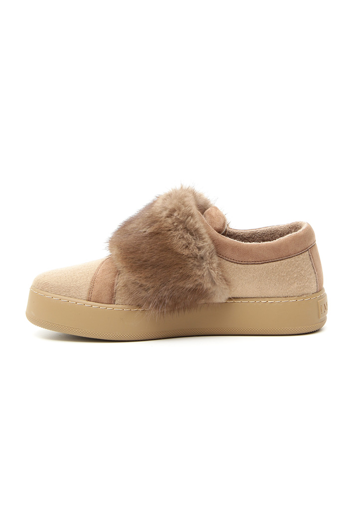 Cashmere and lapin sneakers Intrend