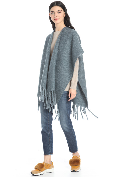 Large fringe poncho Intrend