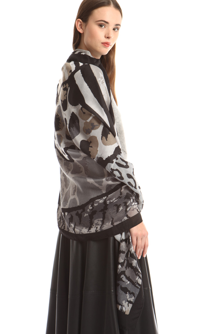 Printed fluid scarf Intrend
