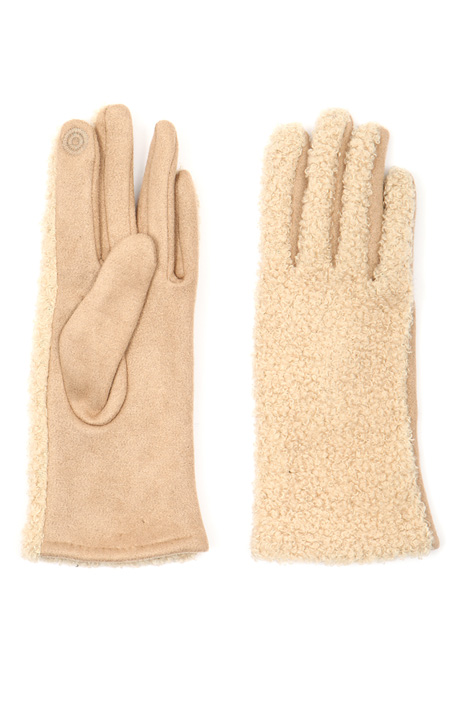 Bouclé insert gloves Intrend