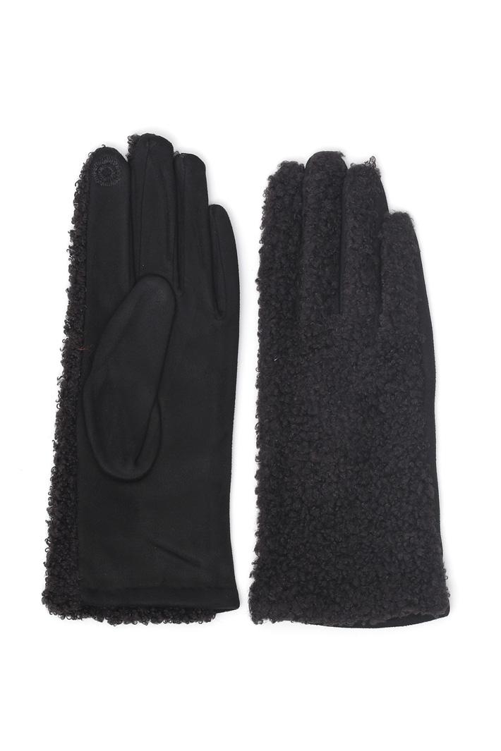 Bouclé insert gloves Intrend