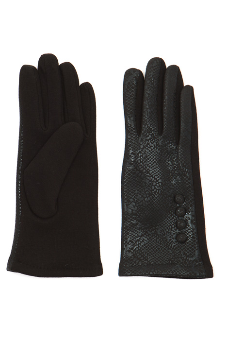 Laminated print gloves Intrend