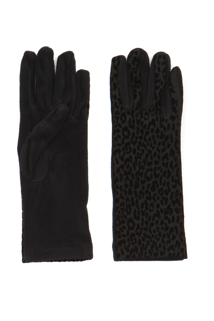 Flock print gloves Intrend