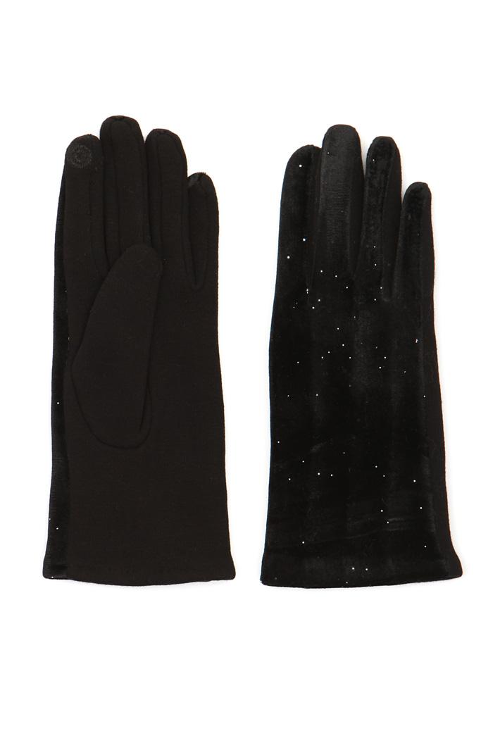 Gloves with lurex insert Intrend