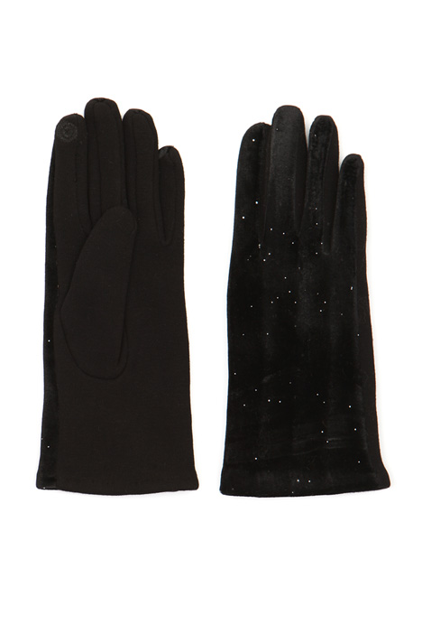 Gloves with lurex insert Intrend