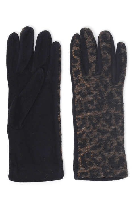 Gloves with bouclé insert Intrend