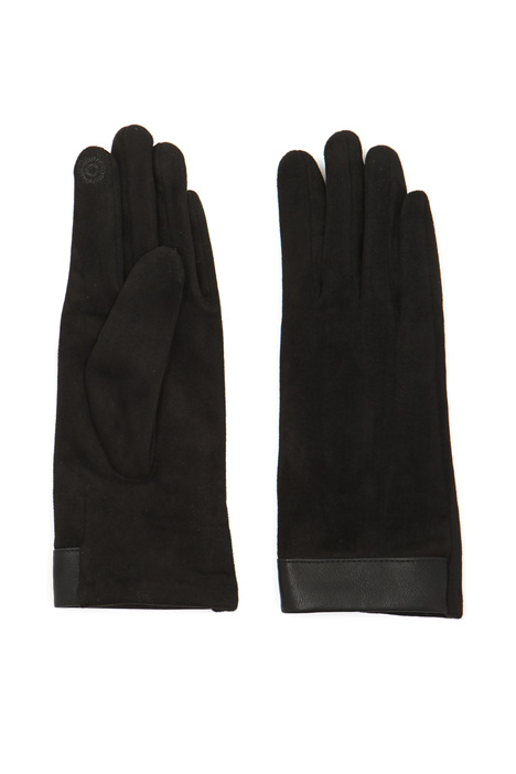 Faux-Leather detail gloves Intrend