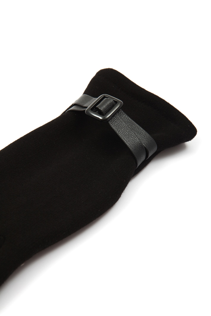 Leather strap gloves Intrend
