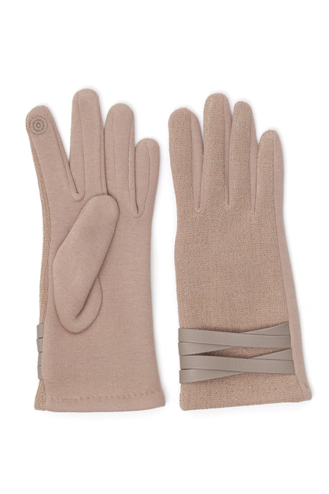 Lurex embroidered gloves Intrend