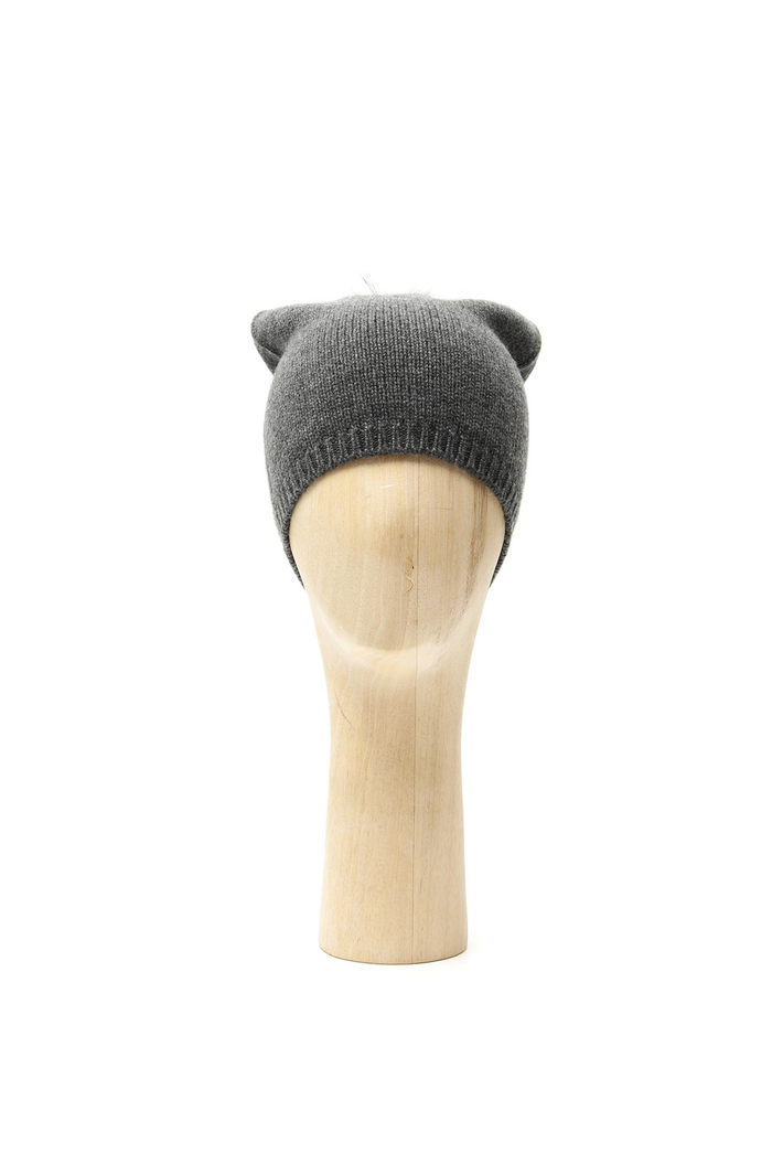 Cashmere and fox beanie hat Intrend