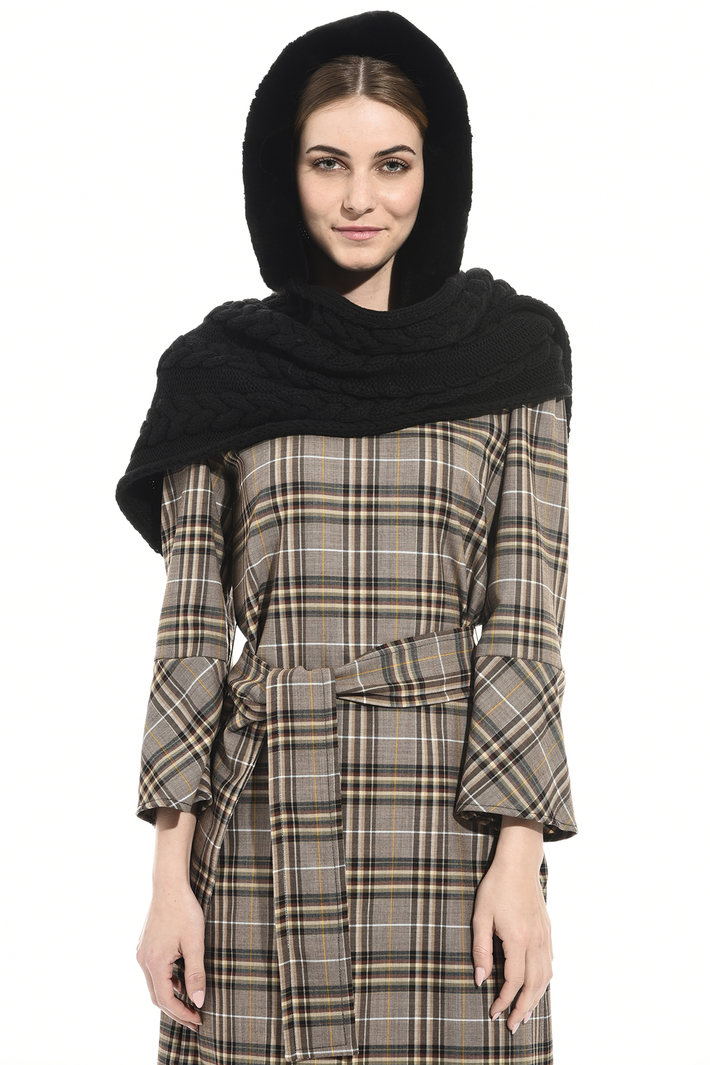 Hooded scarf in lapin Intrend